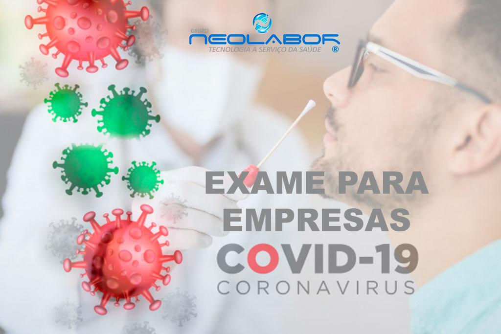 EXAME COVID PARA EMPRESAS
